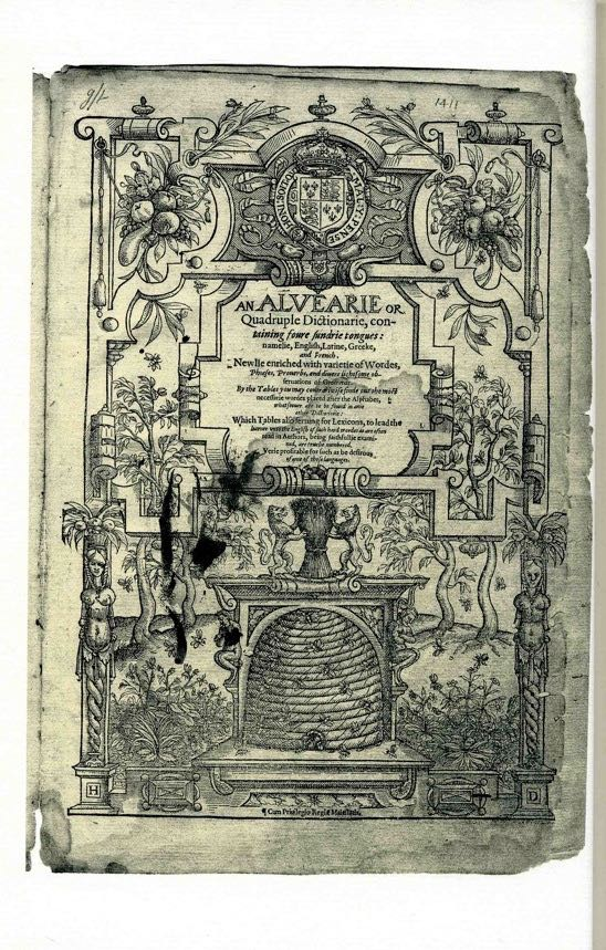 Scan of Alvearie title page
