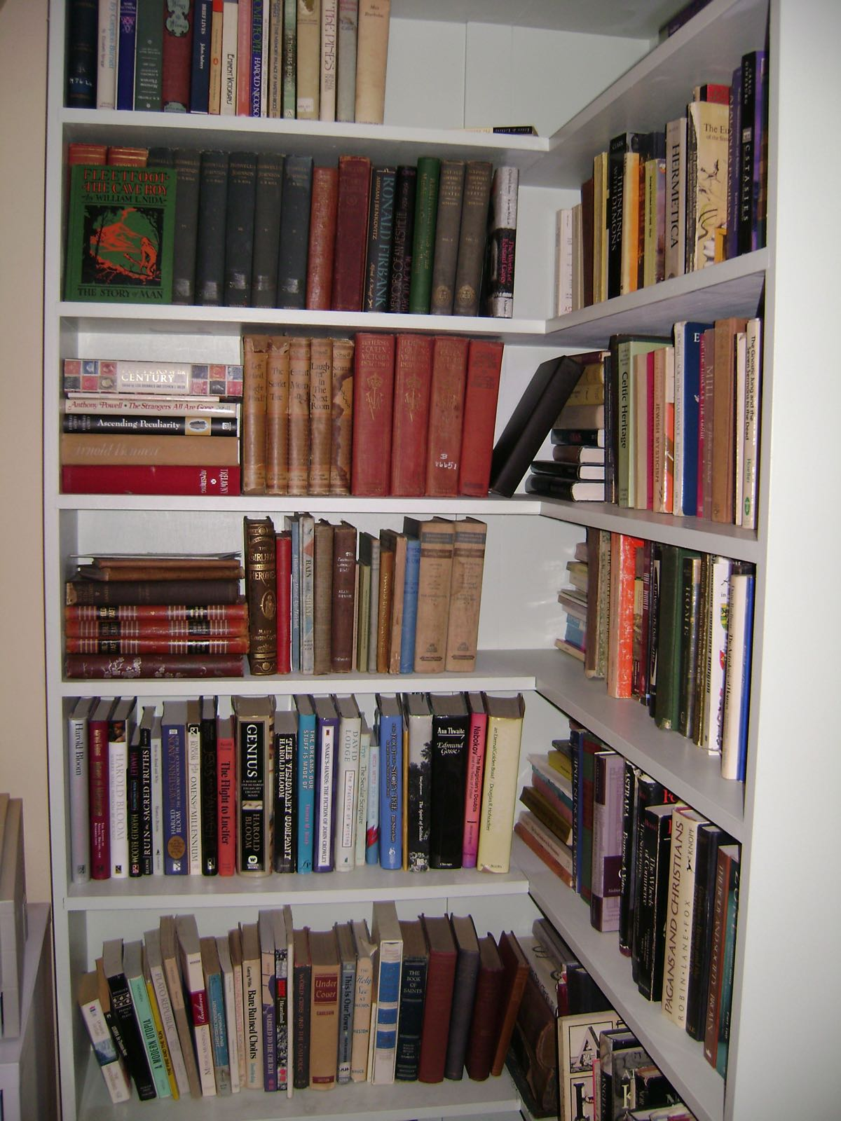 Amazing photo of  Bookshelf : simply messing about in books by Henry Wessells : Shelves with #6F3A31 color and 2304x3072 pixels