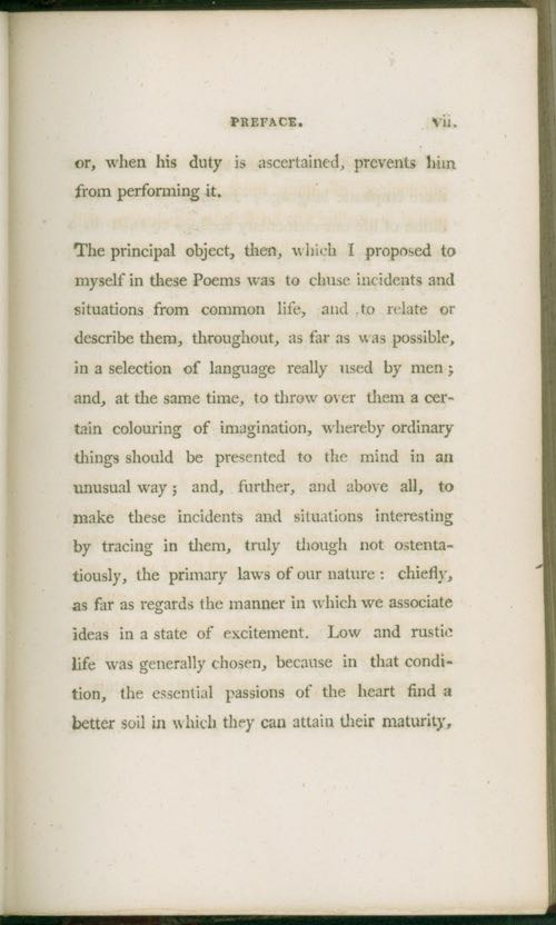 preface to lyrical ballads The preface to lyrical ballads william wordsworth, lyrical ballads (1800 edition) lyrical ballads was written together by william wordsworth and samuel taylor coleridge, though it first.